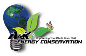 A and K Energy Conservation – Electric Vehicle Charging Stations – Lighting Specialists and Full Electrical Services Logo