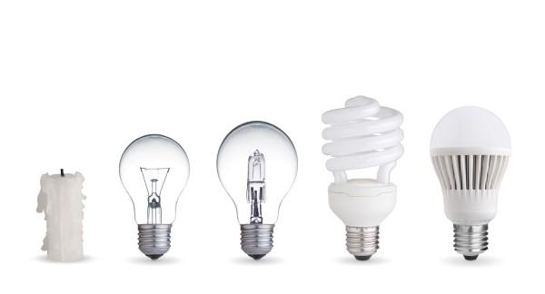 LED lightbulbs saving money